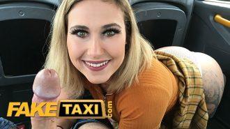 Etine Dolgun Sarışın Azgın Taksiciye Sikişerek Ödeme Yaptı